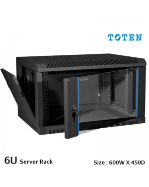 Toten 6U server rack cabinet wall mount 600mmx450mm